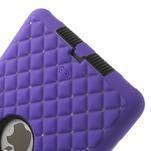 Hybridní kamínkové puzdro pre iPad mini- fialové - 5/6