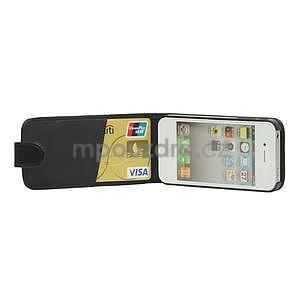 Flipové puzdro pre iPhone 4, 4s- čierné - 5