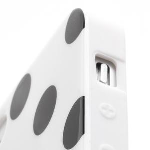 Gélové PUNTÍK puzdro pre iPhone 5, 5s- biele - 5