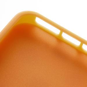 Gélové PUNTÍK puzdro pre iPhone 5, 5s- oranžové - 5