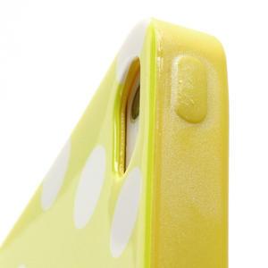 Gélové PUNTÍK puzdro pre iPhone 5, 5s- žlté - 5
