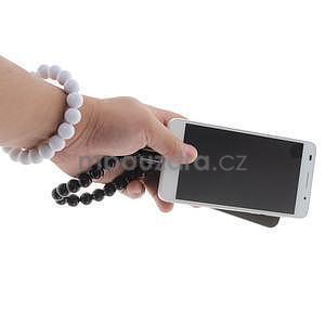 Korálkový náramek micro USB, světle modrý - 5