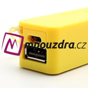 2600mAh externí baterie Power Bank - žltá - 5
