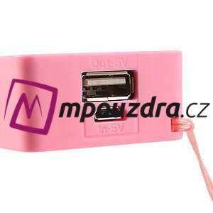 4000mAh externí baterie Power Bank - ružová - 5