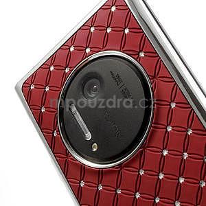 Drahokamové puzdro pre Nokia Lumia 1020- červené - 5