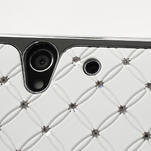 Drahokamové puzdro na Sony Xperia Z L36i C6603- biele - 5/7