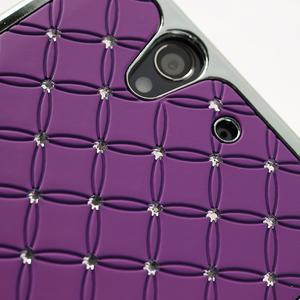 Drahokamové puzdro na Sony Xperia Z L36i C6603- fialové - 5