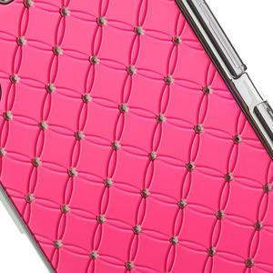 Drahokamovej puzdro pre Sony Xperia Z1 C6903 L39- svetleružové - 5