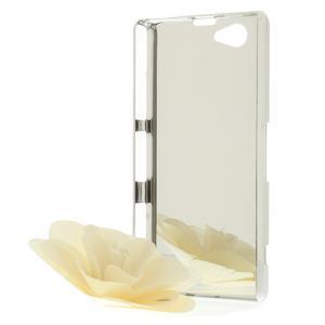 Drahokamovej puzdro pre Sony Xperia Z1 Compact D5503- biele - 5