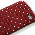 Drahokamové pouzdro pro Samsung Galaxy S4 mini i9190- červené - 5/5