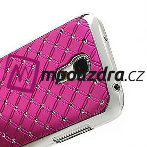 Drahokamové pouzdro pro Samsung Galaxy S4 mini i9190- růžové - 5