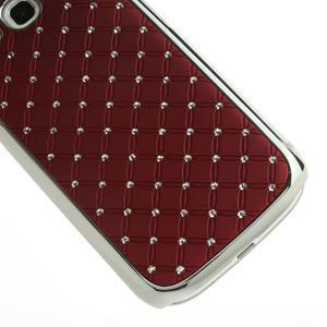 Drahokamové puzdro pre Samsung Galaxy S3 i9300 - červené - 5