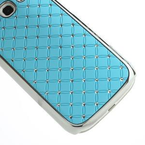 Drahokamové puzdro pre Samsung Galaxy S3 i9300 - světlě-modré - 5