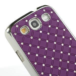Drahokamové puzdro pre Samsung Galaxy S3 i9300 - fialové - 5