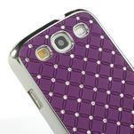Drahokamové puzdro pre Samsung Galaxy S3 i9300 - fialové - 5/5