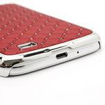 Drahokamové puzdro pro Samsung Galaxy S4 i9500- červené - 5/7