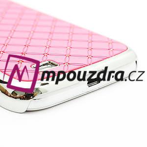 Drahokamové pouzdro pro Samsung Galaxy S4 i9500- světle-růžové - 5