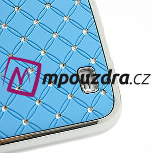 Drahokamové puzdro pro Samsung Galaxy S4 i9500- svetlo-modré - 5