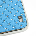 Drahokamové puzdro pro Samsung Galaxy S4 i9500- svetlo-modré - 5/7