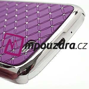 Drahokamové pouzdro pro Samsung Galaxy S4 i9500- fialové - 5