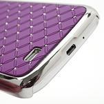 Drahokamové pouzdro pro Samsung Galaxy S4 i9500- fialové - 5/7