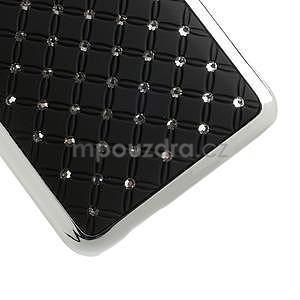 Drahokamové puzdro pre HTC one Mini M4- čierné - 5