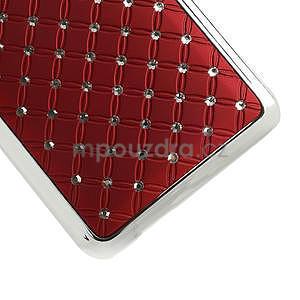 Drahokamové puzdro pre HTC one Mini M4- červené - 5