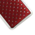 Drahokamové puzdro pre HTC one Mini M4- červené - 5/5