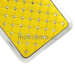 Drahokamové puzdro pre HTC one Mini M4- žlté - 5