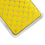 Drahokamové puzdro pre HTC one Mini M4- žlté - 5/5