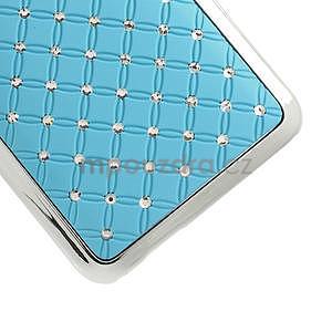 Drahokamové puzdro pre HTC one Mini M4- svetlo modré - 5
