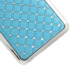 Drahokamové puzdro pre HTC one Mini M4- svetlo modré - 5/5