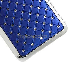 Drahokamové puzdro pre HTC one Mini M4- modré - 5