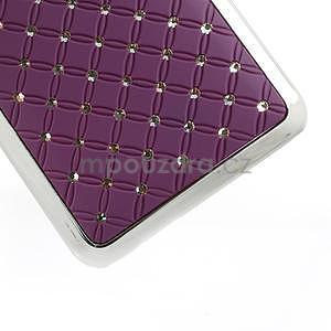 Drahokamové puzdro pre HTC one Mini M4- fialové - 5