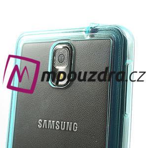 Gélové hybrid puzdro na Samsung Galaxy Note 3- svetlo modré - 5
