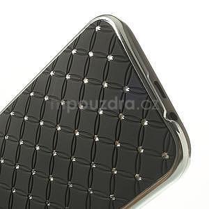 Drahokamové puzdro pre HTC one M8- čierné - 5