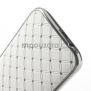 Drahokamové puzdro pre HTC one M8- biele - 5