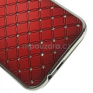 Drahokamové puzdro pre HTC one M8- červené - 5