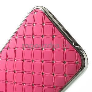 Drahokamové puzdro pre HTC one M8- světlerůžové - 5