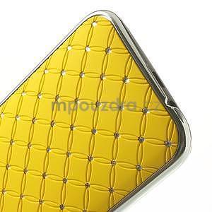 Drahokamové puzdro pre HTC one M8- žlté - 5