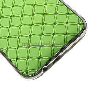 Drahokamové puzdro pre HTC one M8- zelené - 5