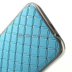 Drahokamové puzdro pre HTC one M8- svetlo modré - 5