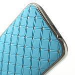 Drahokamové puzdro pre HTC one M8- svetlo modré - 5/6