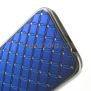 Drahokamové puzdro pre HTC one M8- modré - 5