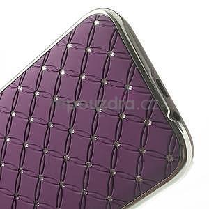 Drahokamové puzdro pre HTC one M8- fialové - 5