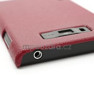 Texturované puzdro pre LG Optimus L7 P700- červené - 5