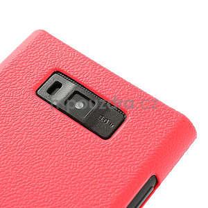 Texturované puzdro pre LG Optimus L7 P700- ružové - 5