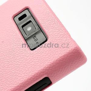 Texturované puzdro pre LG Optimus L7 P700- světlerůžové - 5