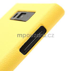 Texturované puzdro pre LG Optimus L7 P700- žlté - 5