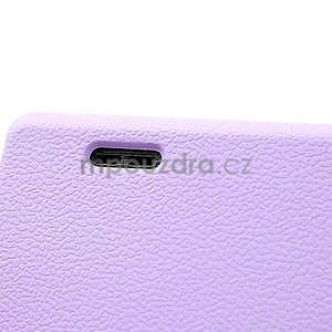 Texturované puzdro pre LG Optimus L7 P700- fialové - 5